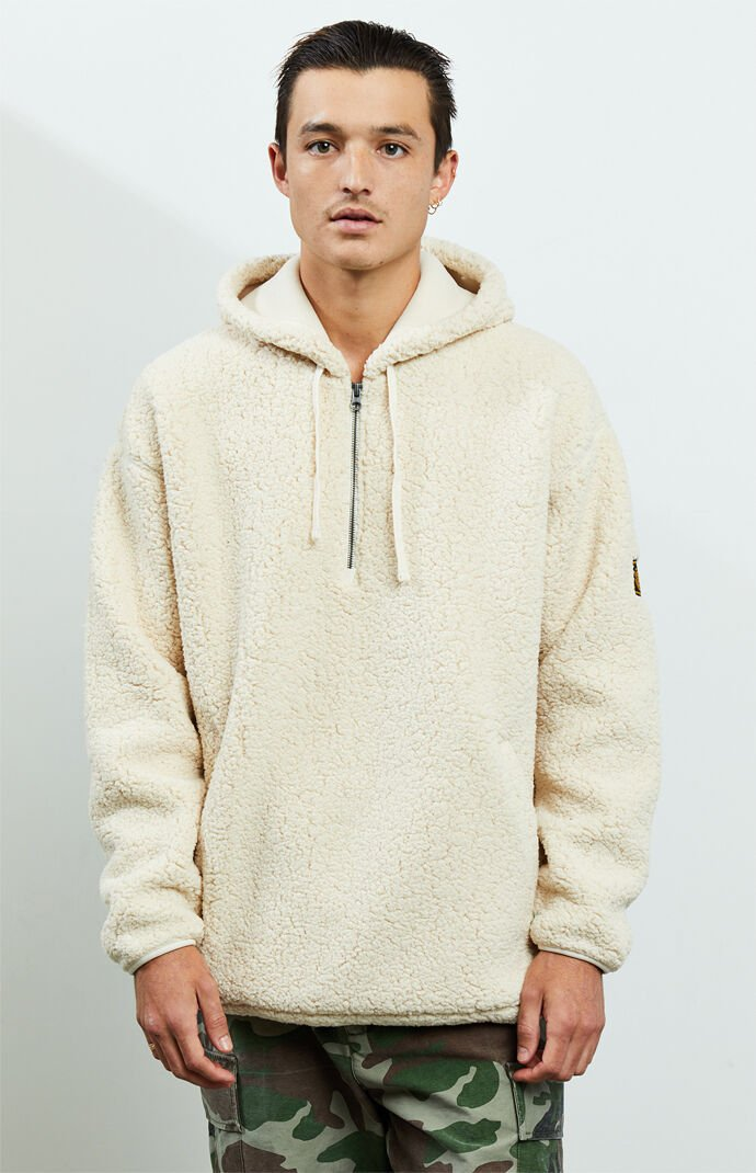 Big Sherling Sherpa Quarter Zip Hoodie