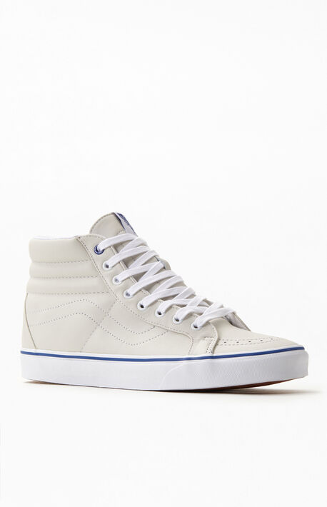 White & Blue UA Sk8-HI Reissue Shoes