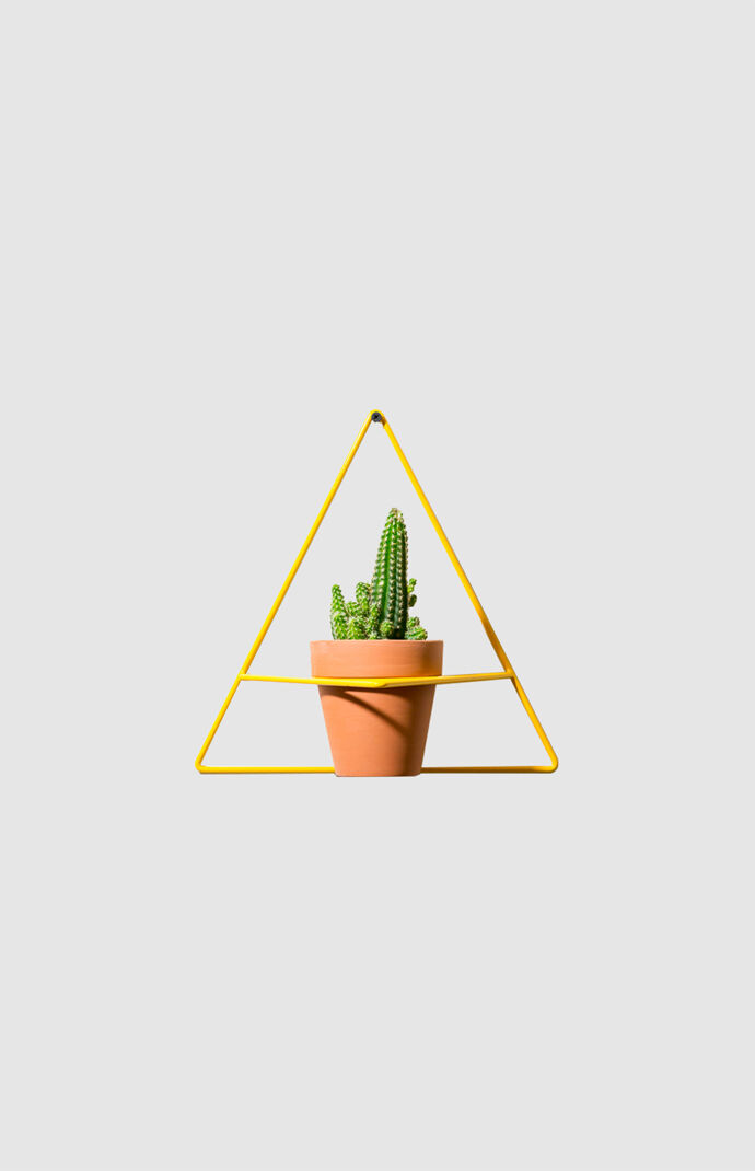 Yellow Triangle Wall Planter