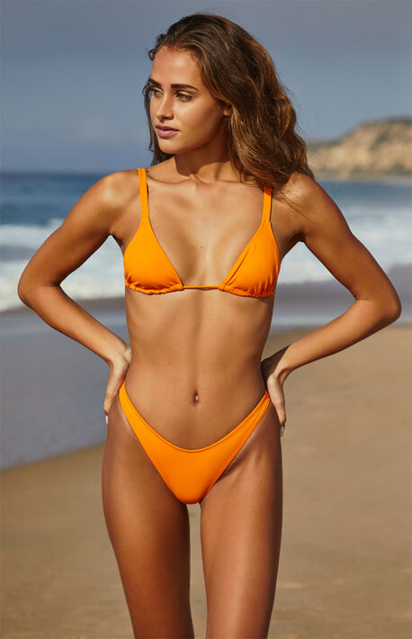 Orange Oceana Triangle Bikini Top