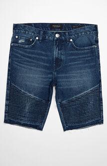 Skinny Medium Moto Cutoff Denim Shorts