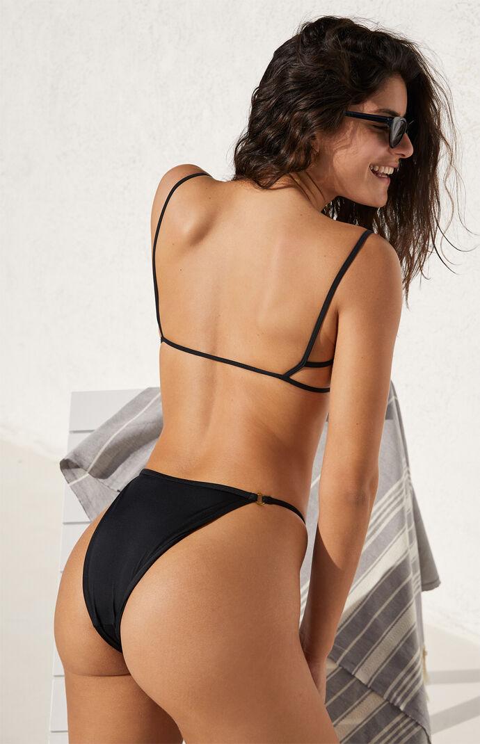 Black Drea Ring Binded Bikini Bottom