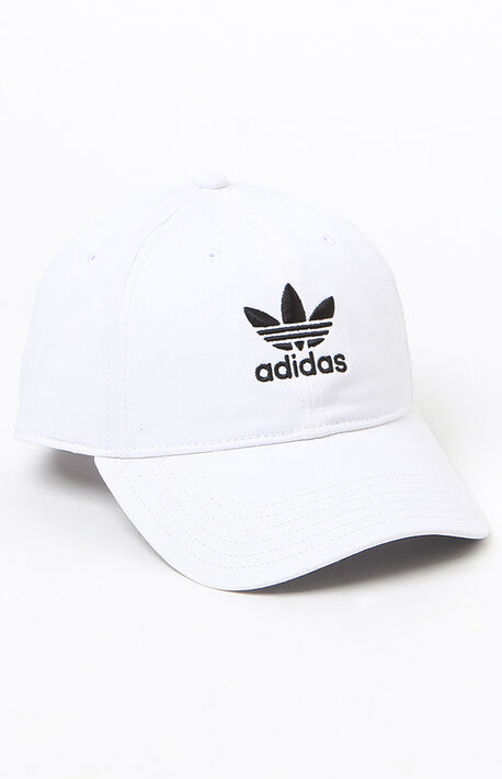 Washed White Strapback Dad Hat d5f631136c4