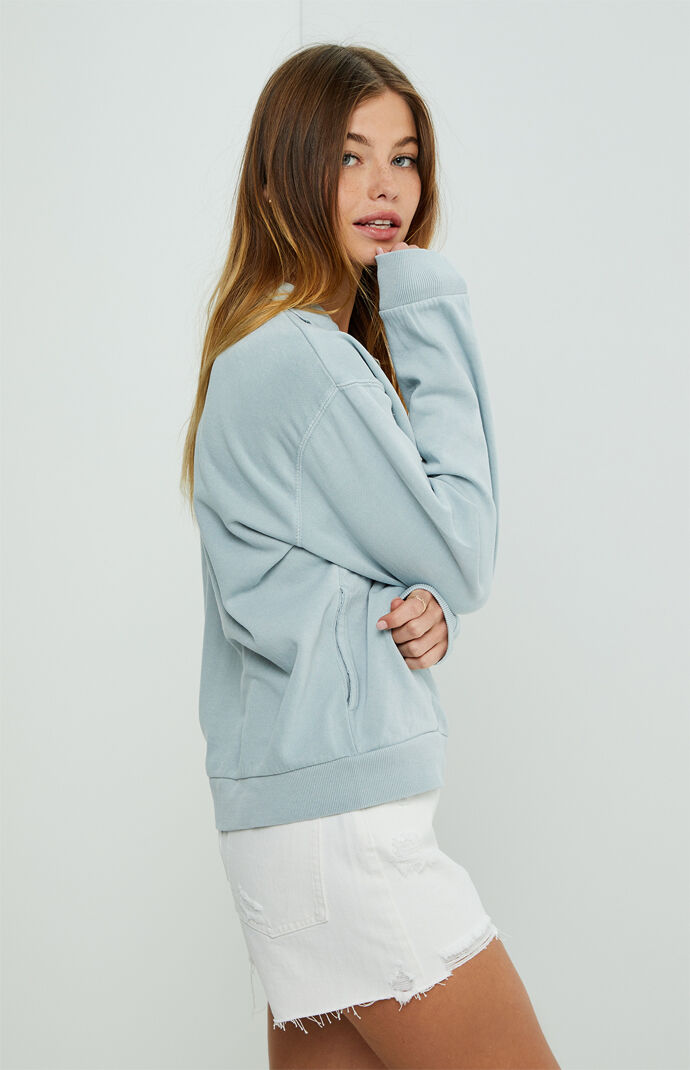 Moon Wash Half-Zip Sweatshirt