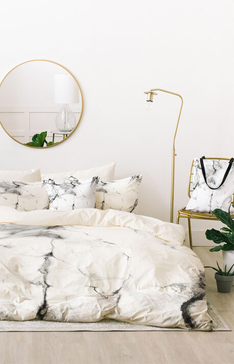 Grey Marble Duvet Set