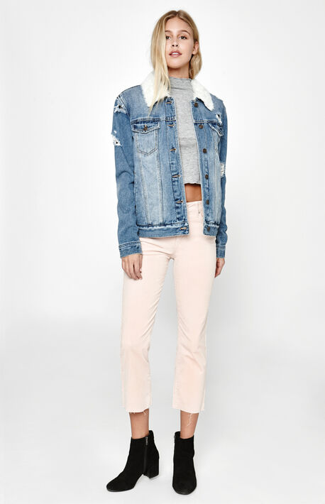 Pink Lemonade High Rise Crop Kick Jeans