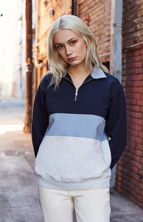 Half Zip Color-Blocked Jacket