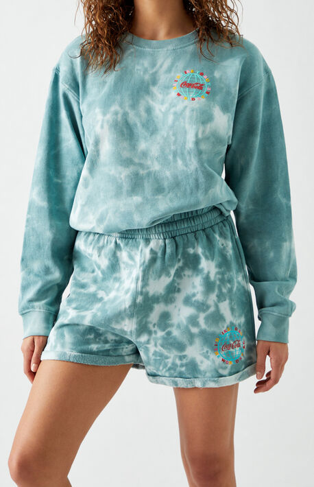 x Coca-Cola Teal Globe Shorts