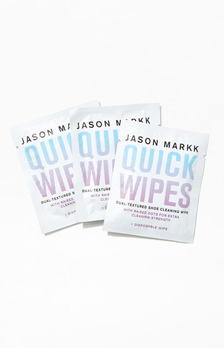 Three Pack Quick Shoe Cleaning Wipes