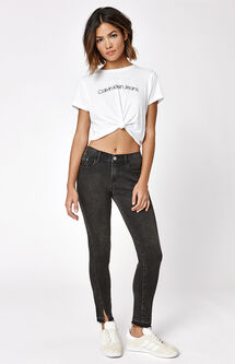 Let Down Ankle Skinny Jeans