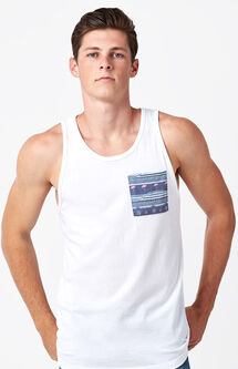 Pierce Tropic Pocket Tank Top