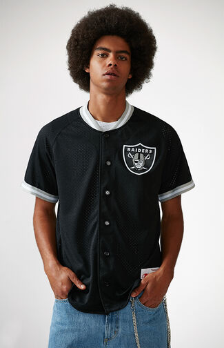 Oakland Raiders NFL Button Up Jersey