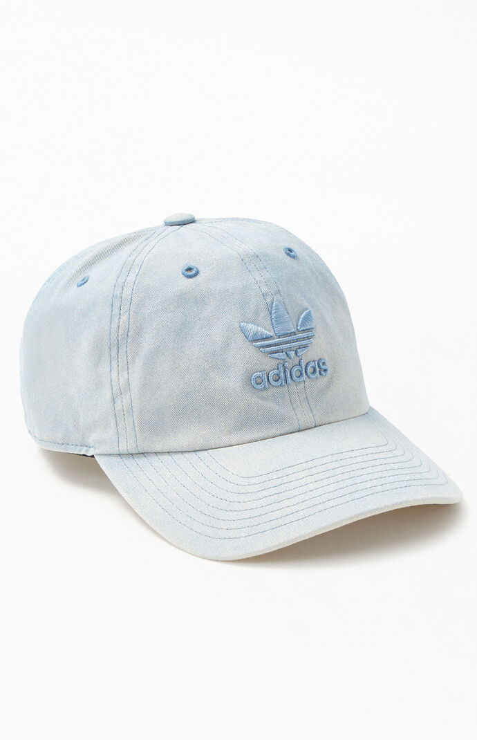 07c713eb4ec1e adidas Blue Originals Relaxed Overdye Dad Hat
