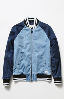 Icon Chambray Baseball Jacket