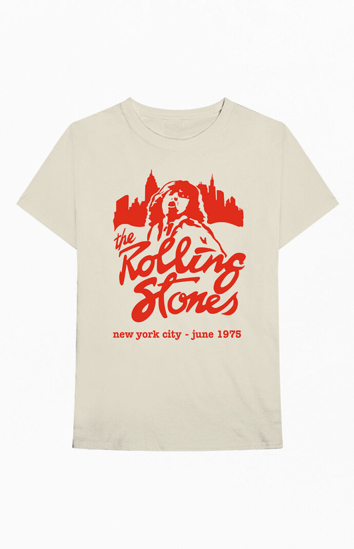 The Rolling Stones Mick June 1975 NYC T-Shirt