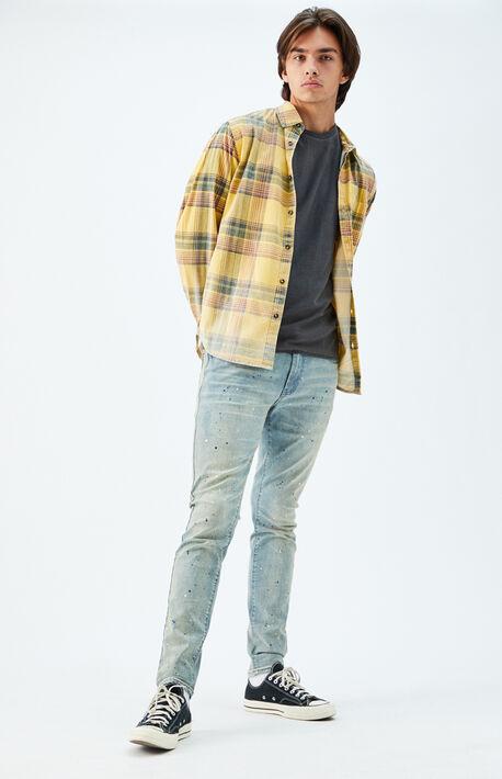 Light Splatter Stacked Skinny Jeans
