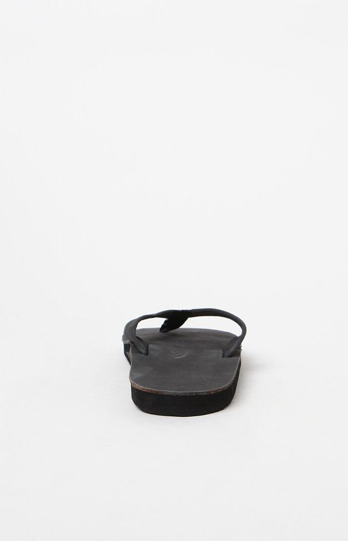 Premier Single Layer Black Flip Flops