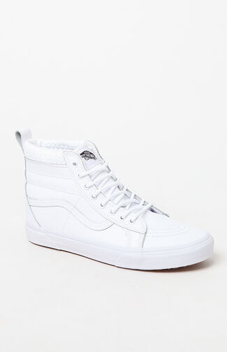 Weatherized Sk8-Hi MTE White Shoes