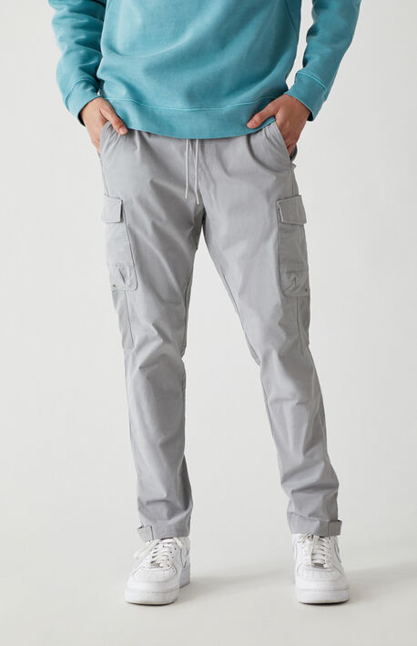 Cotton Nylon Slim Cargo Pants