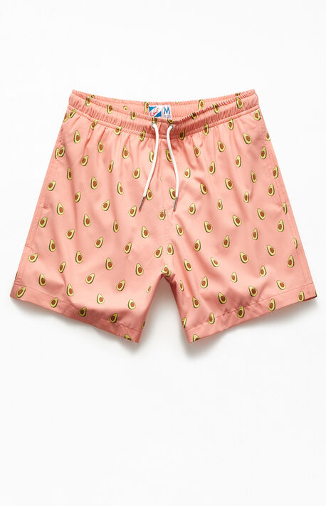 "Pink Avocado 14"" Swim Trunks"