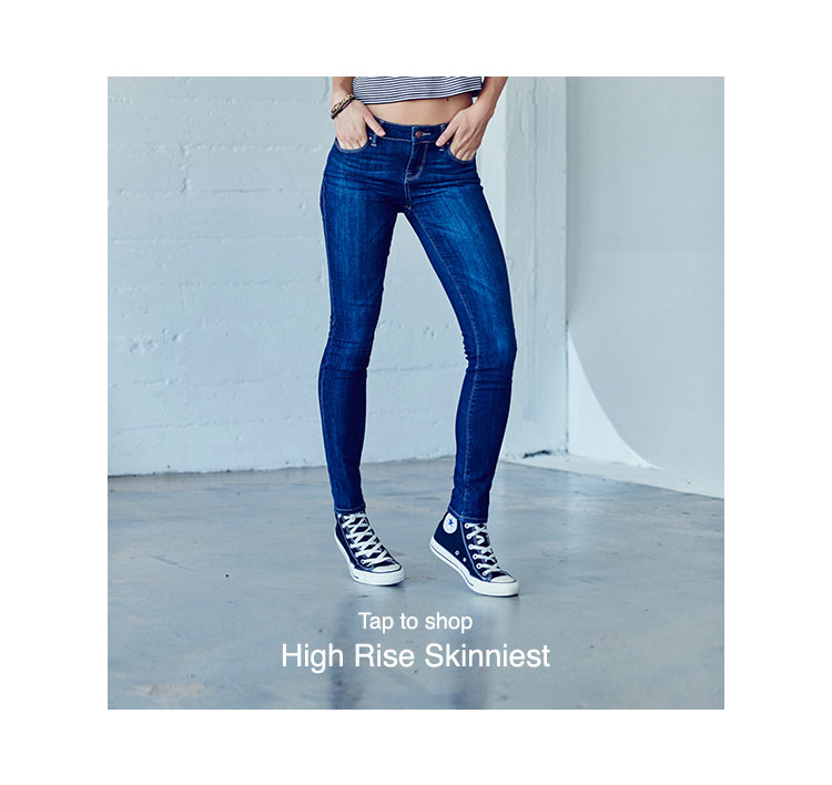 PacSun Womens Denim Fits - high-rise-skinniest