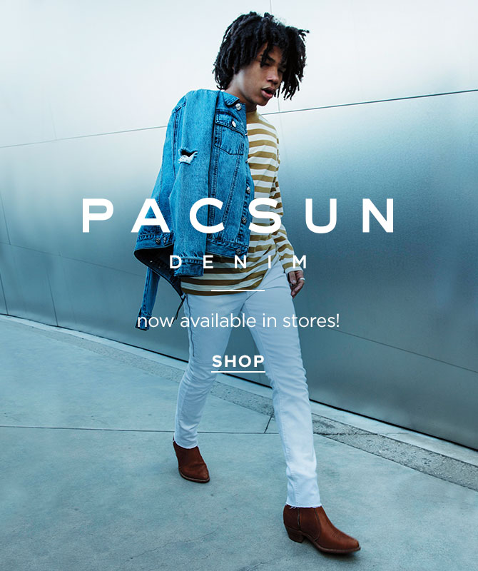 Mens PacSun Denim now in stores