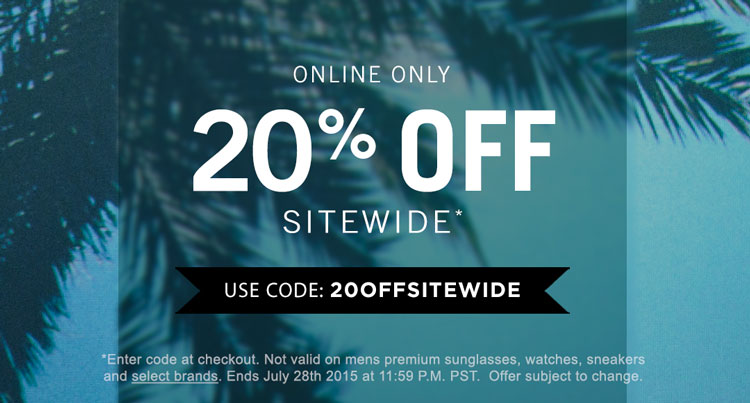 20% Sitewide