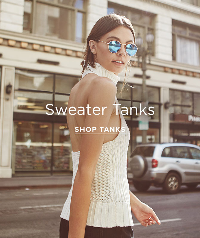 Womens Sweater Tanks