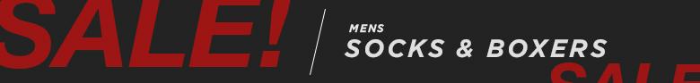 Men's Sale Socks and Boxers