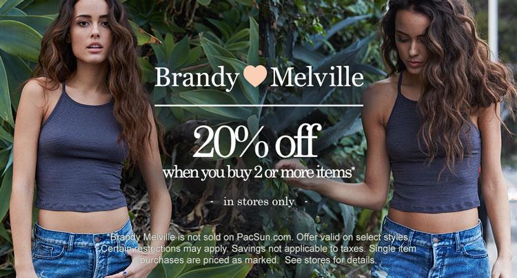 Womens Brandy Melville promo
