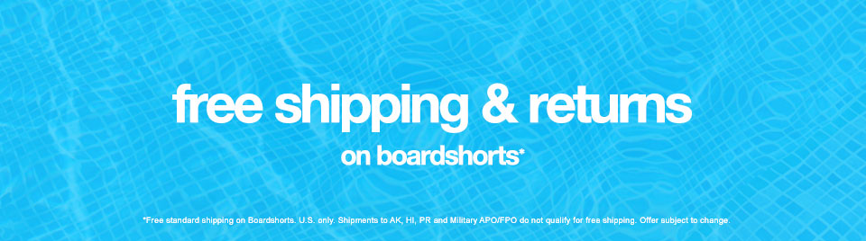 Free Shipping & Returns On Boardshorts*