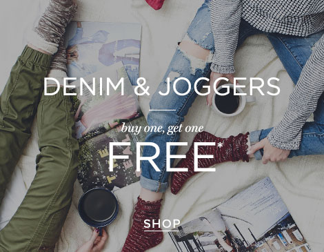 Womens Denim/jogger promo