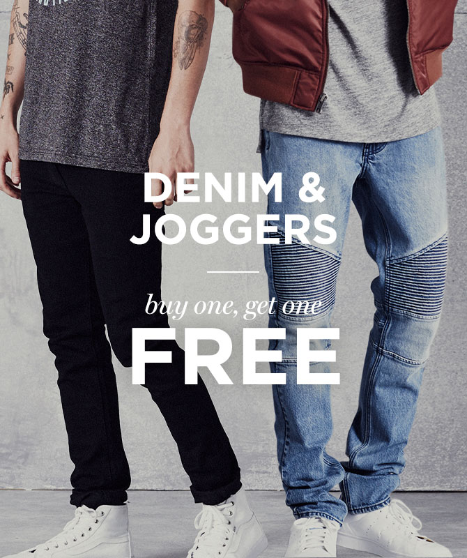 Mens BOGO Free Denim & Joggers
