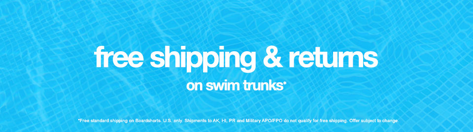 Free Shipping & Returns On Swim Trunks*