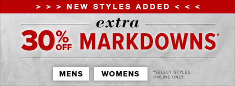 30% off markdowns
