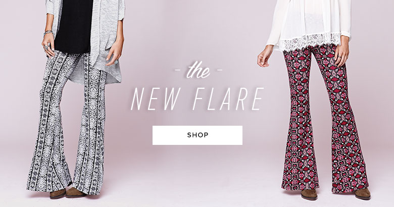 Womens Knit Flare Pants
