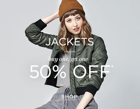 womens jackets BOGO 50%