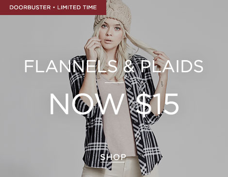 Womens $15 Plaid