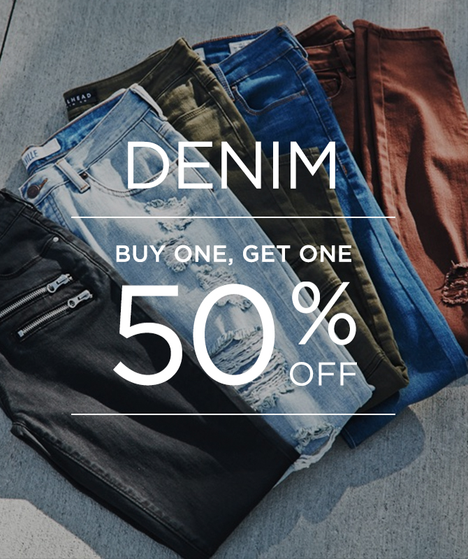 Womens denim bogo 50%