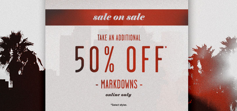 Mens Additonal 50% Off Markdowns