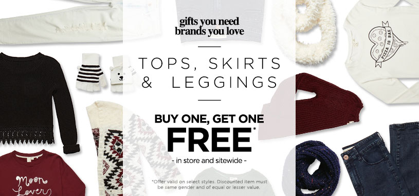 Womens BOGO Free Tops, skirts & leggings
