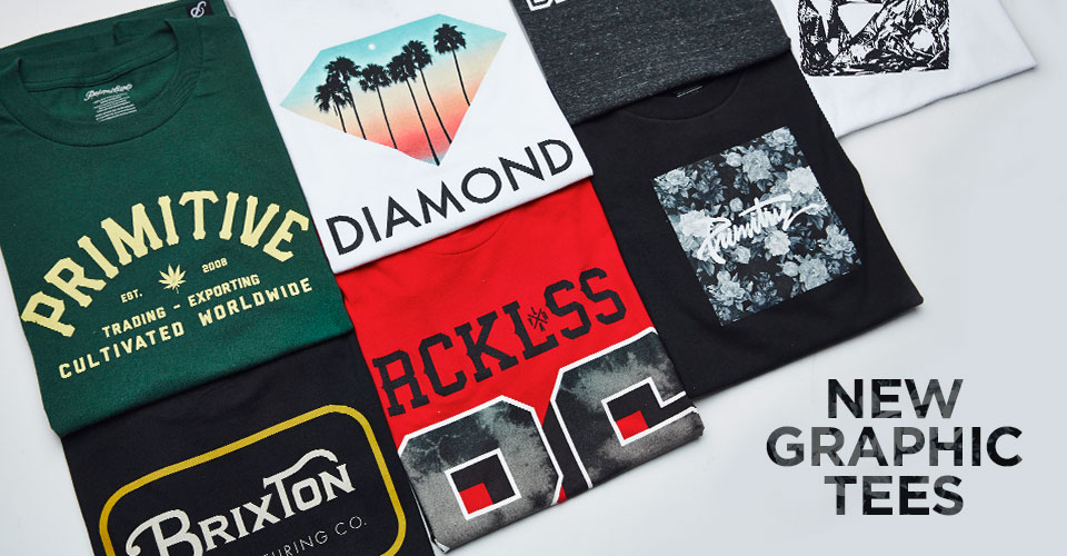 Mens New Branded Graphic Tees