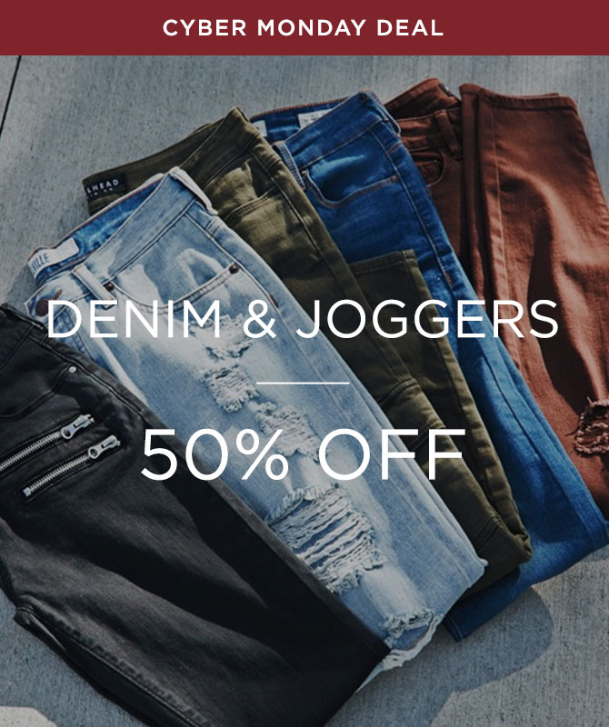 Womens 50% off Denim & joggers