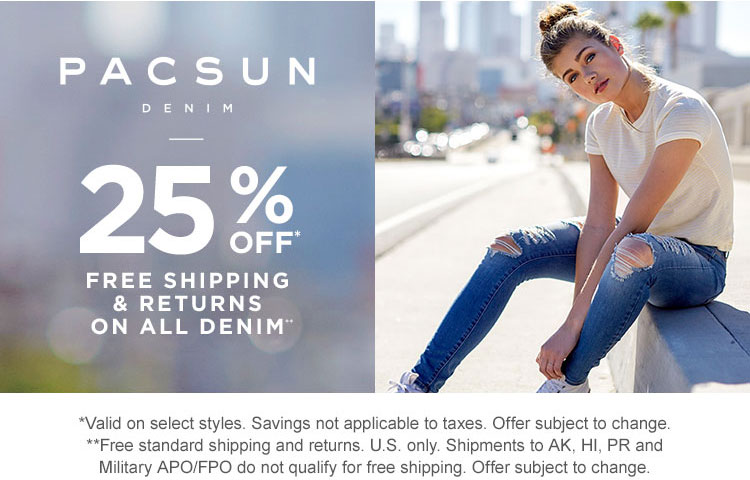 PacSun Denim 25% off