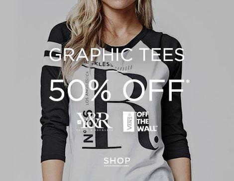 Womens Graphics 50% off