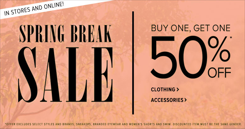 Spring Break sale