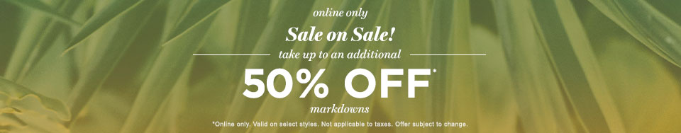 Womens Spring sale 50% MDS