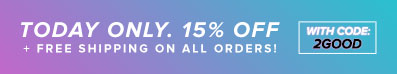15% off + free shipping on all orders! Ends Sunday.
