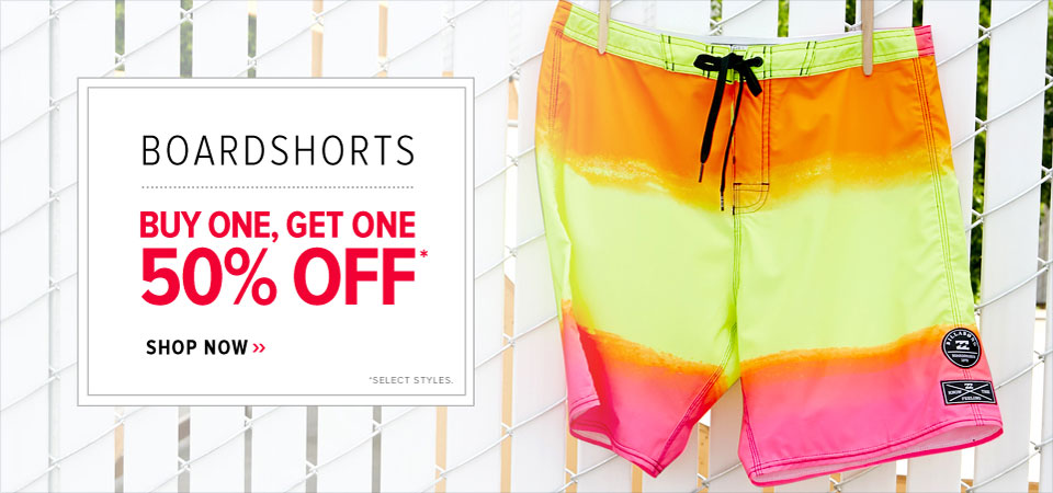 MENS BOARDSHORTS BOGO 50%