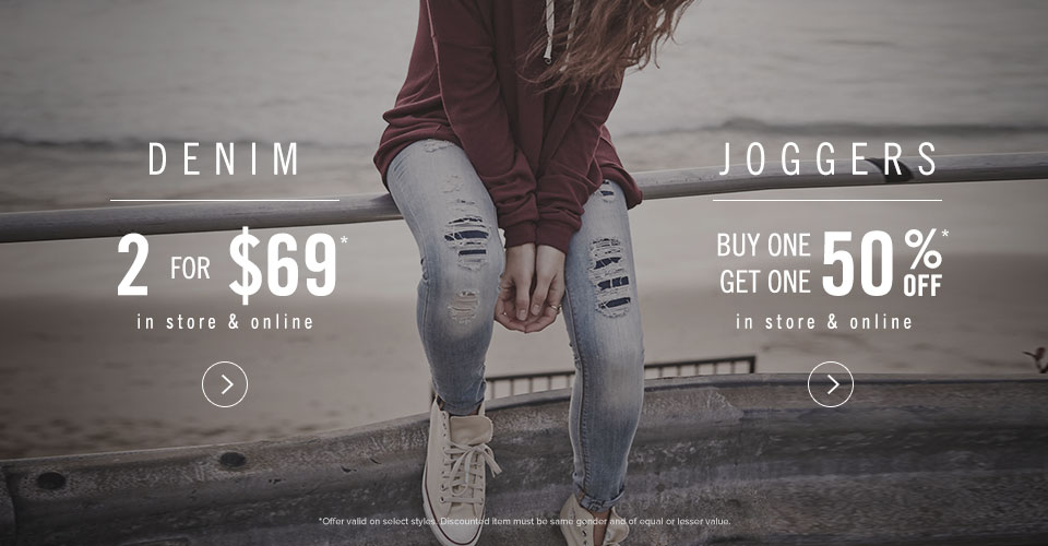 Womens BOGO Denim and BOGO 50% Joggers